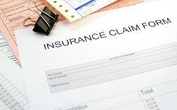 Dental insurance claim form for services.